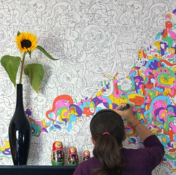 papel de parede pintar