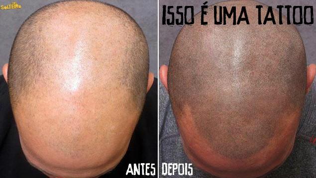 tatuagem imita cabelo