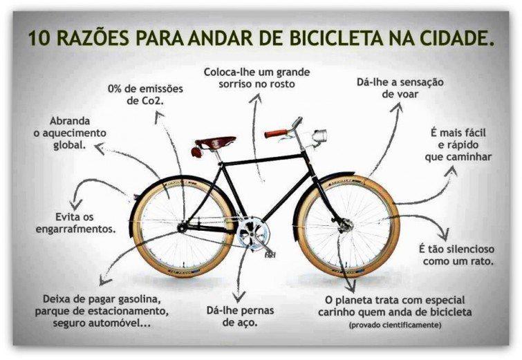 10 razoes para andar de bicicleta na cidade