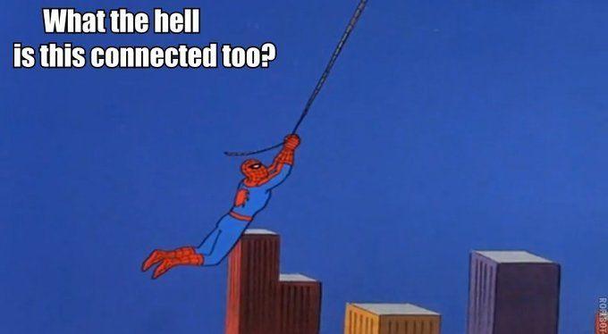 homem aranha teia