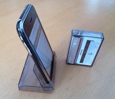 caixinha de fita mini dv porta celular