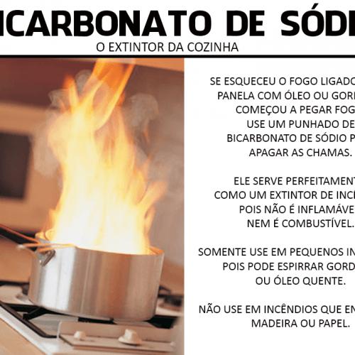 BICARBONATO DE SODIO EXTINTOR DE INCENDIO COZINHA CONTRA FOGO
