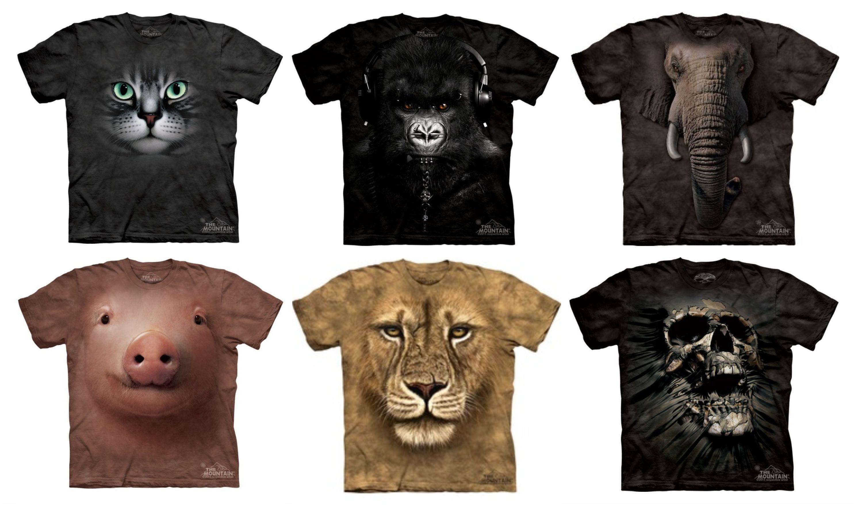 2d2b769241 estampa realista animais pra vestir. The Mountain Camisetas