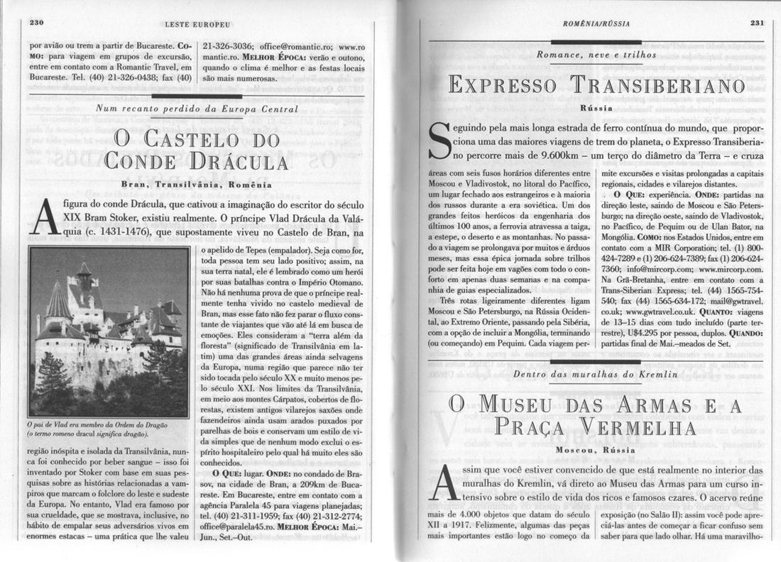 1000 Lugares - Conde Drácula e Expresso Transiberiano