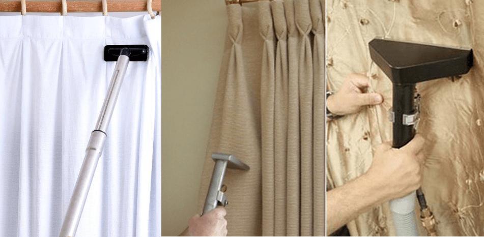 limpar cortina comum