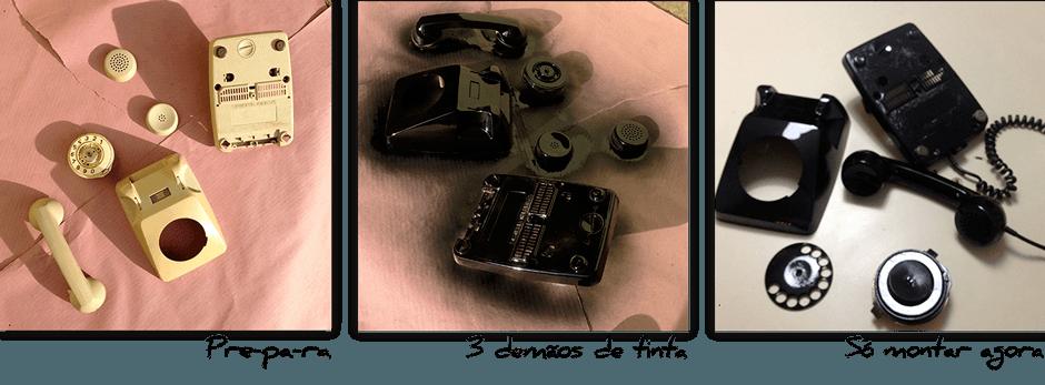 4-reformando o telefone antigo