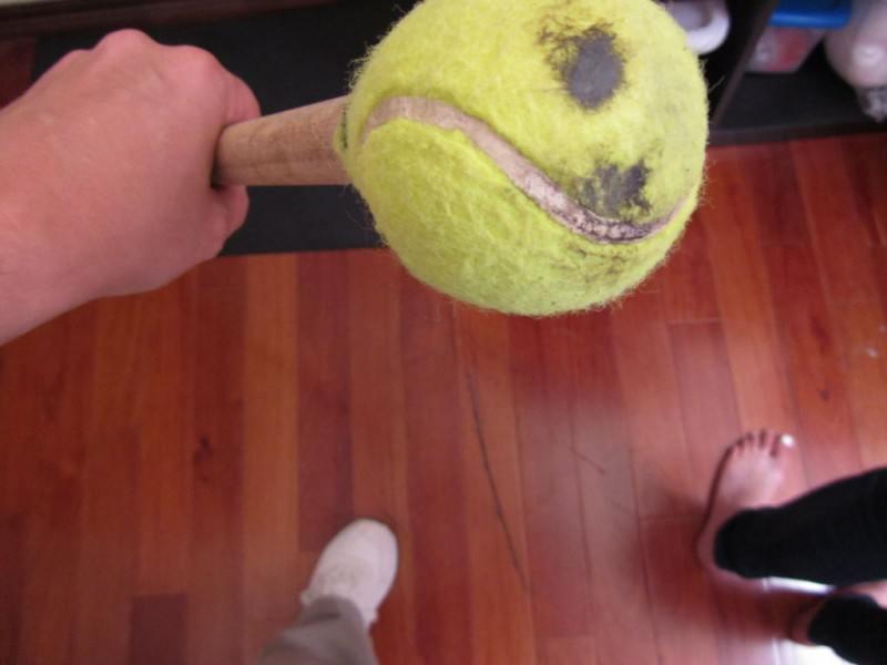 usos para bolinha de tenis 5