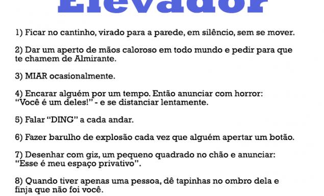 10 coisas irritantes para se fazer no elevador