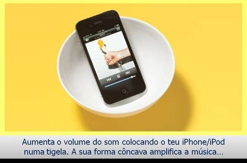 aumente o som do iphone