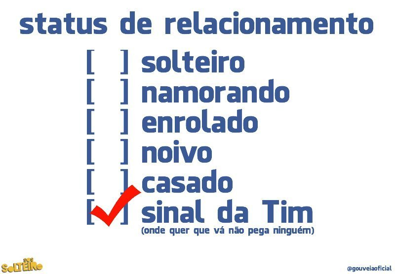 estado civil sinal da tim