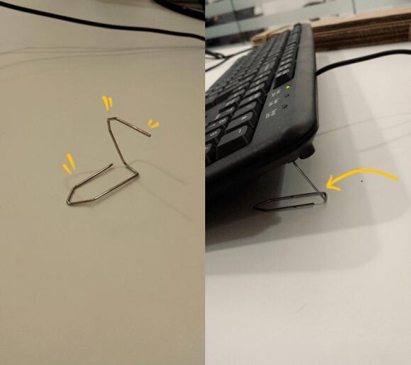 gambiarra teclado quebrado clips