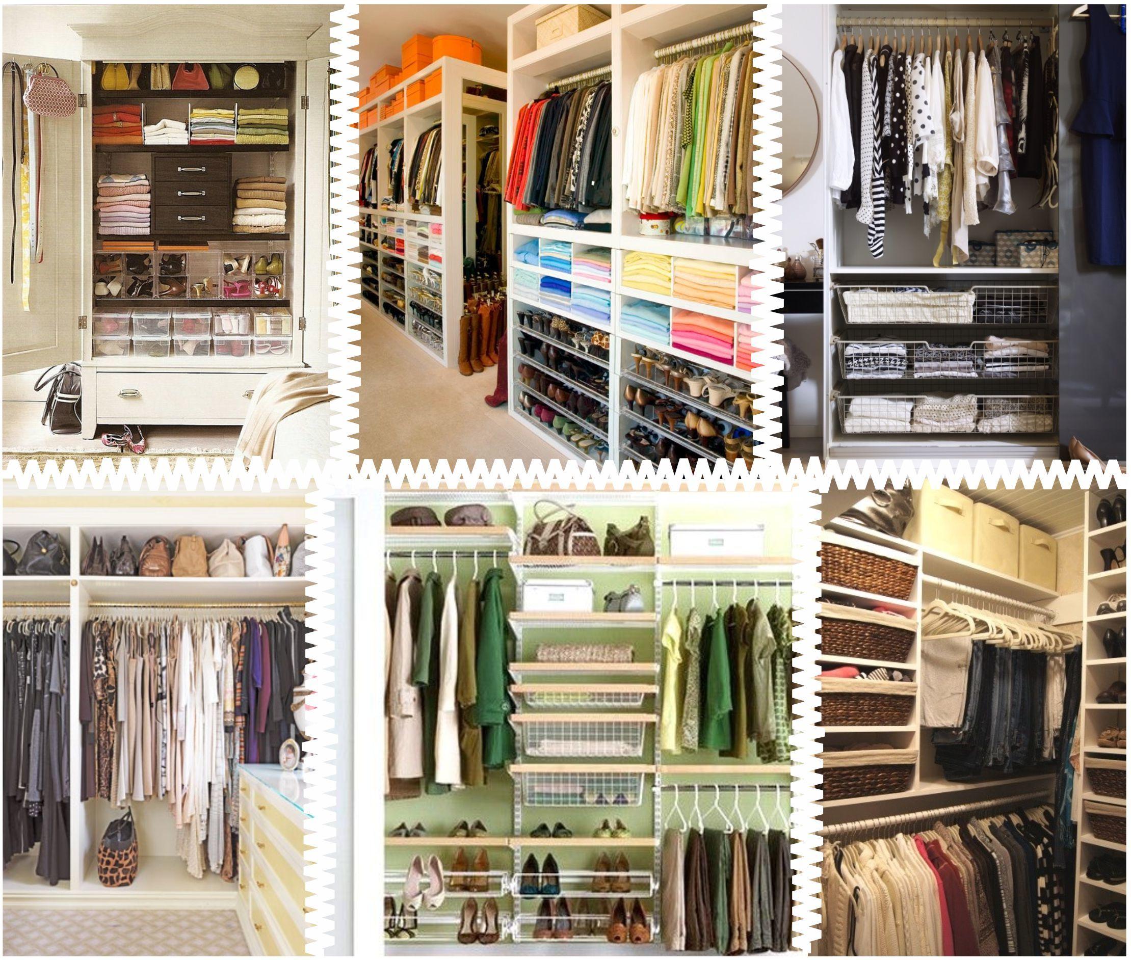 8 passos para organiza o do guarda roupa - Ideas para armarios empotrados ...