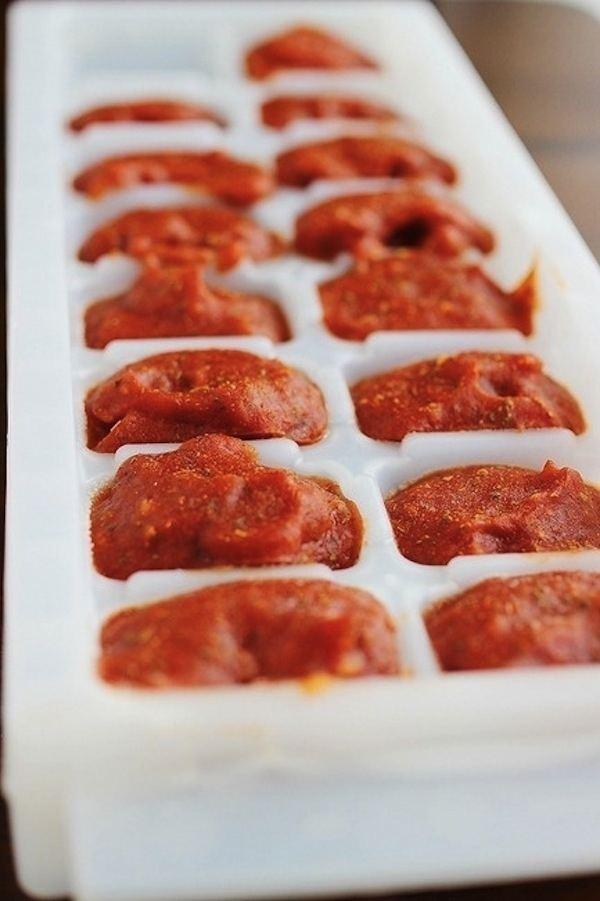 molho de tomate congelado