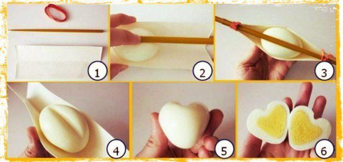 ovos coração