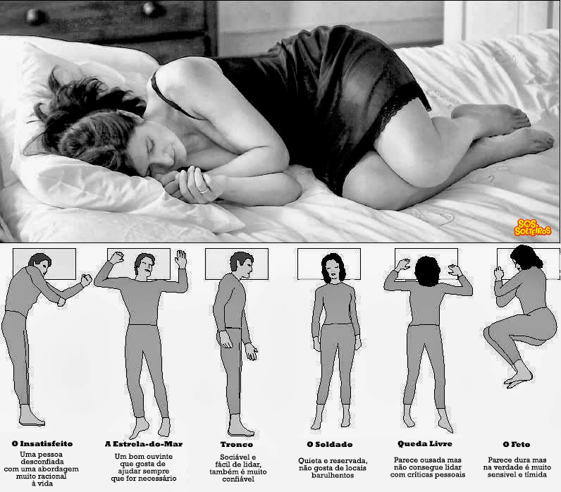 6 posicoes para dormir