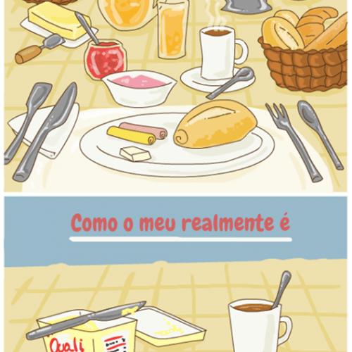 café da manhã de solteiro