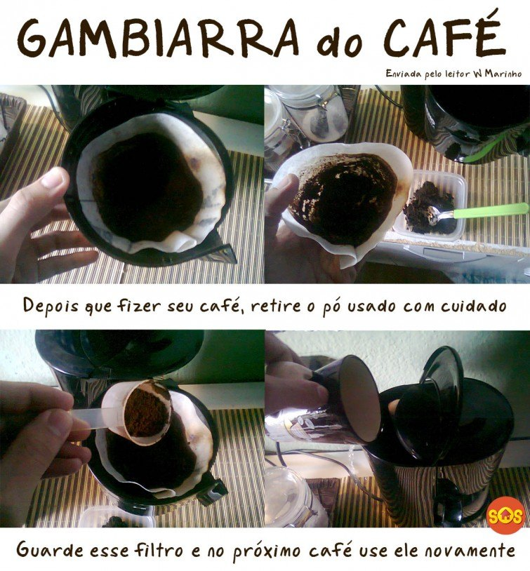 reaproveite o filtro do café
