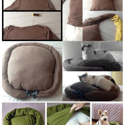 reaproveite roupa velha cama animais