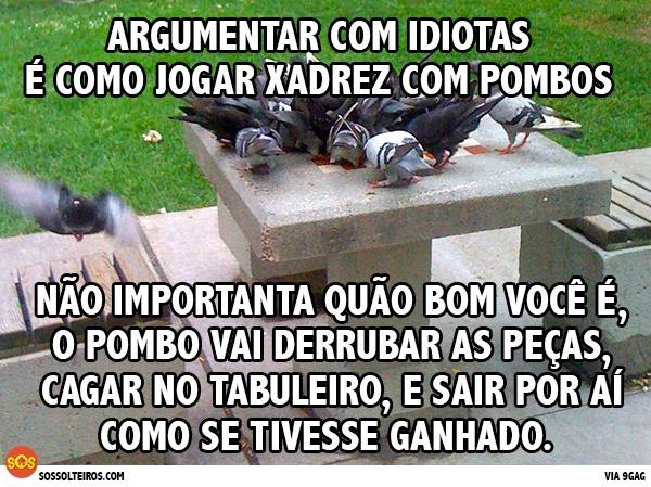 ARGUMENTAR COM IDIOTAS