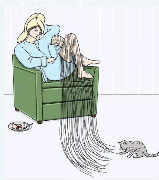preguiça de depilar