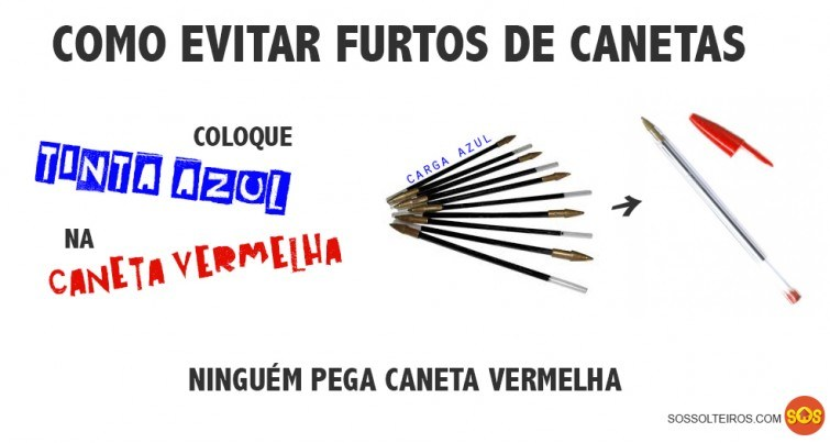 COMO EVITAR FURTOS DE CANETA