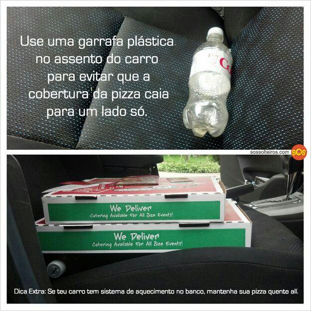 como evitar que o recheio da pizza caia carro