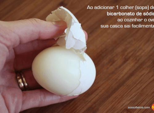 descascar ovos cozidos facilidade