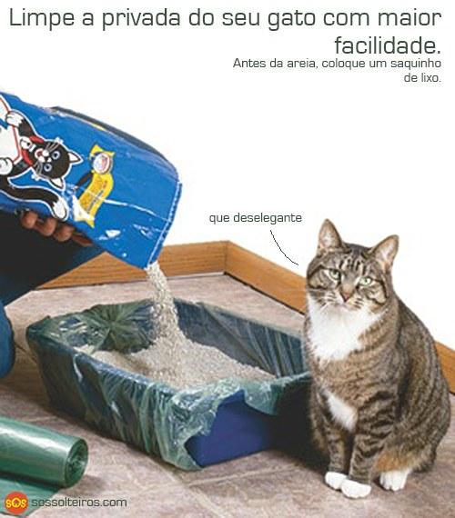 limpe a areia do gato com mais facilidade