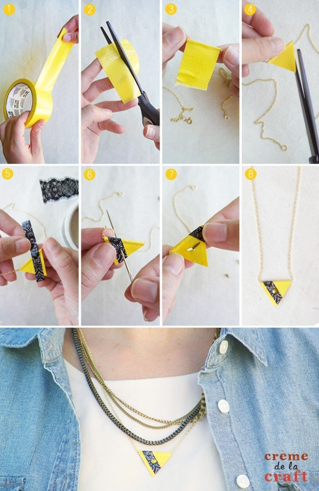 DIY-Duct-Tape-Craft-Project-IDea-Unique-Jewelry-Necklace-How-To-Make-Tutorial-Fashion-624x960