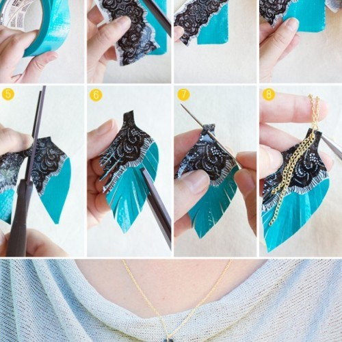 DIY-Duct-Tape-Crafts-Projects-Necklace-Jewelry-Fashion-Unique-Idea-Tutorial-624×960