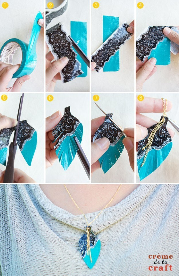 DIY-Duct-Tape-Crafts-Projects-Necklace-Jewelry-Fashion-Unique-Idea-Tutorial-624x960
