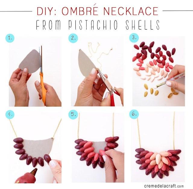 DIY-Handmade-Creme-de-la-Craft-Ombre-Necklace-Pistachio-Shells-Craft-Upcycle