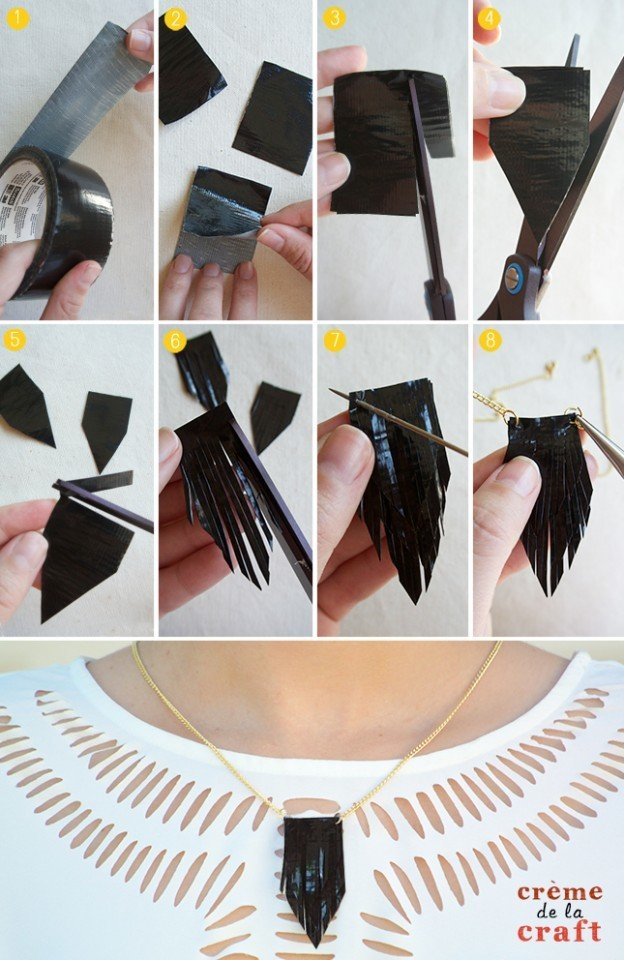 DIY-How-To-Make-Duct-Tape-Kids-Crafts-Projects-Necklaces-Jewelry-Fashion-Idea-Tutorial-Blog-624x960
