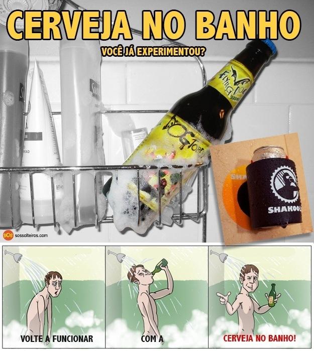 cerveja no banho