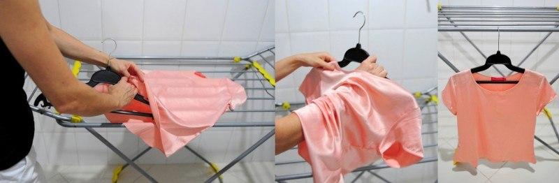 como evitar marcas ao pendurar a roupa para secar 5