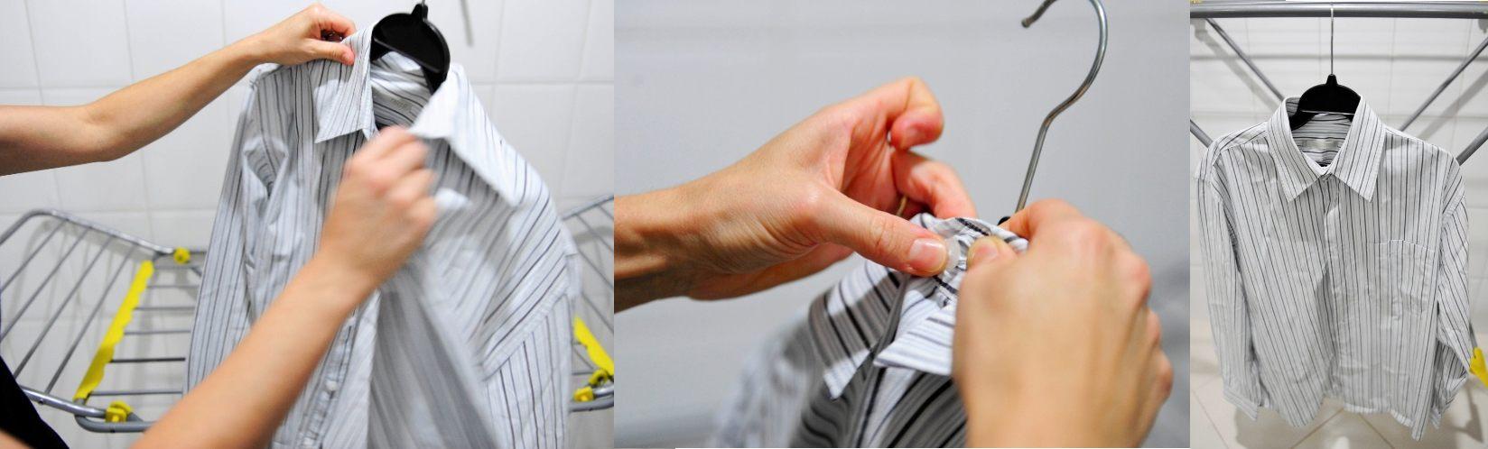 como evitar marcas ao pendurar a roupa para secar 6