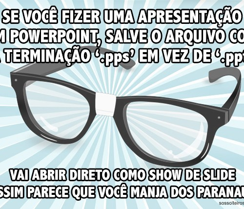 dica geek powerpoint slide show