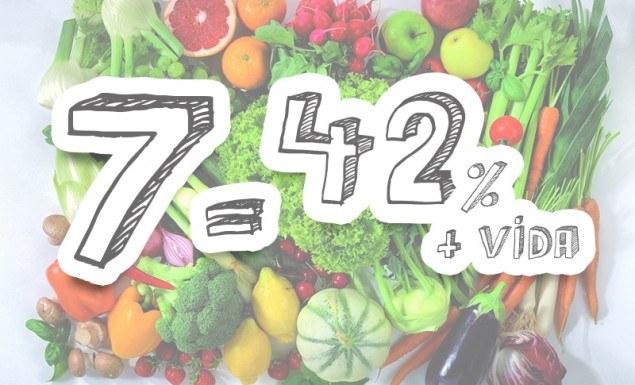 42 a mais vida 7 legumes frutas