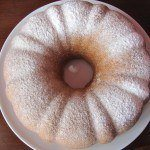 classic yellow bundt cake top view