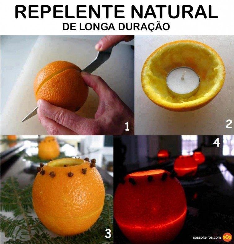 repelente natural laranja cravo vela