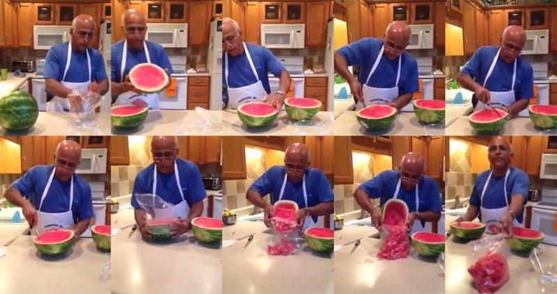 como cortar melancia