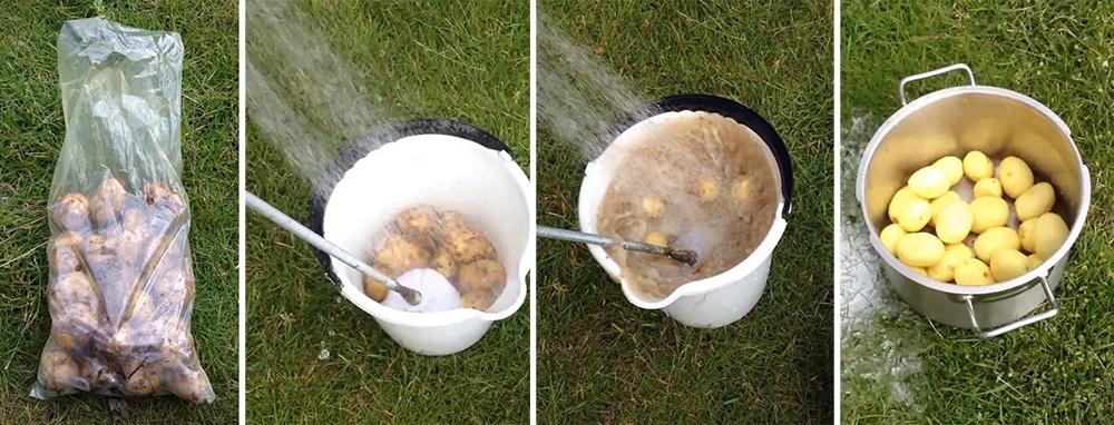 descascar 1kg de batata em 50segundos