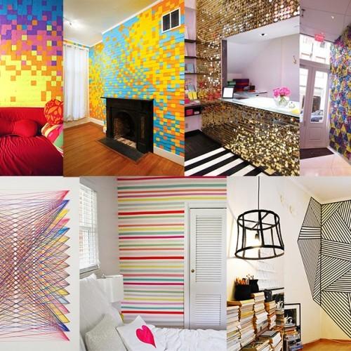 ideias para decorar parede sem tinta