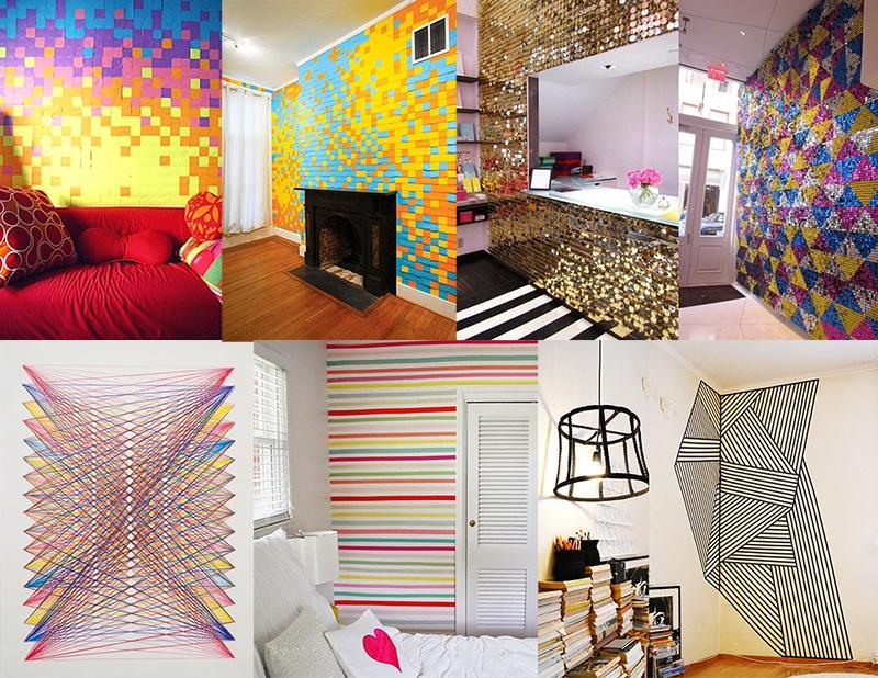 10 ideias criativas e muito baratas para decorar a parede sem tinta - Paredes economicas ...