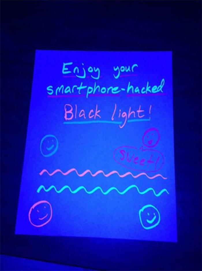 luz negra pelo celular 1