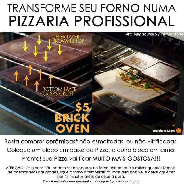 transforme forno convencional em pizzaria ceramica