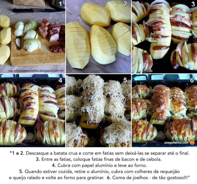 batatas receita bacon queijo cebola