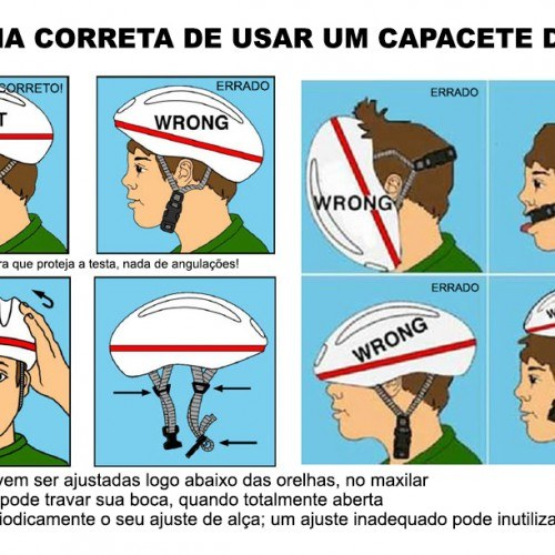 como usar capacete bike patins