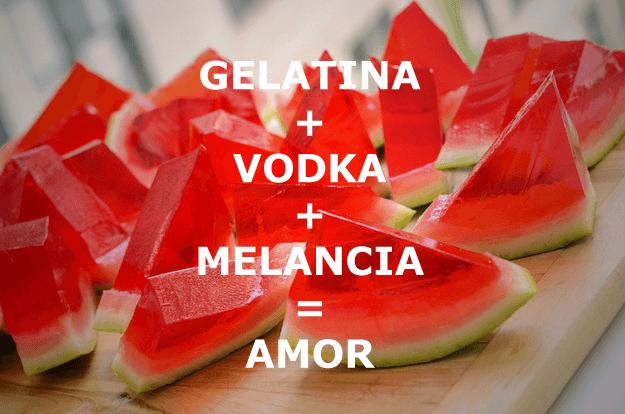 Muito Jelly Shot de Melancia: Gelatina batizada com Vodka VN57