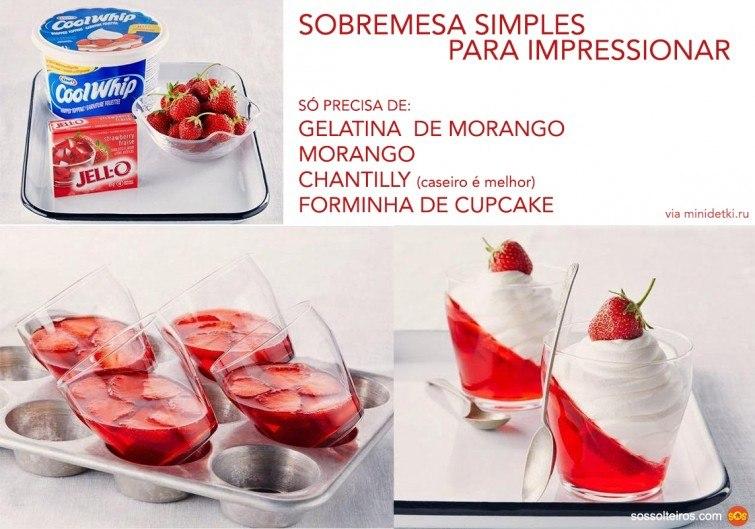 receita simples gelatina chantilly